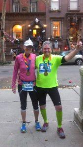 New York Marathon / glücklich das Ziel erreicht